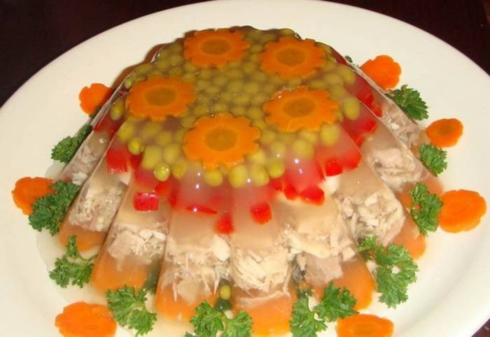 Как приготовить холодец (заливное) из курицы с желатином фото