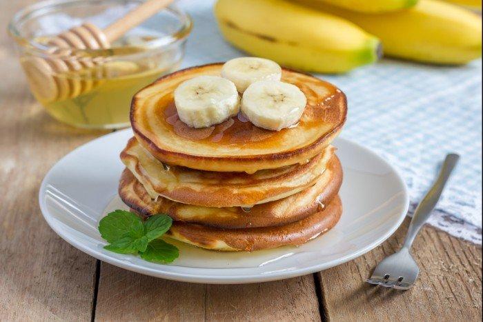 Банановые оладьи фото