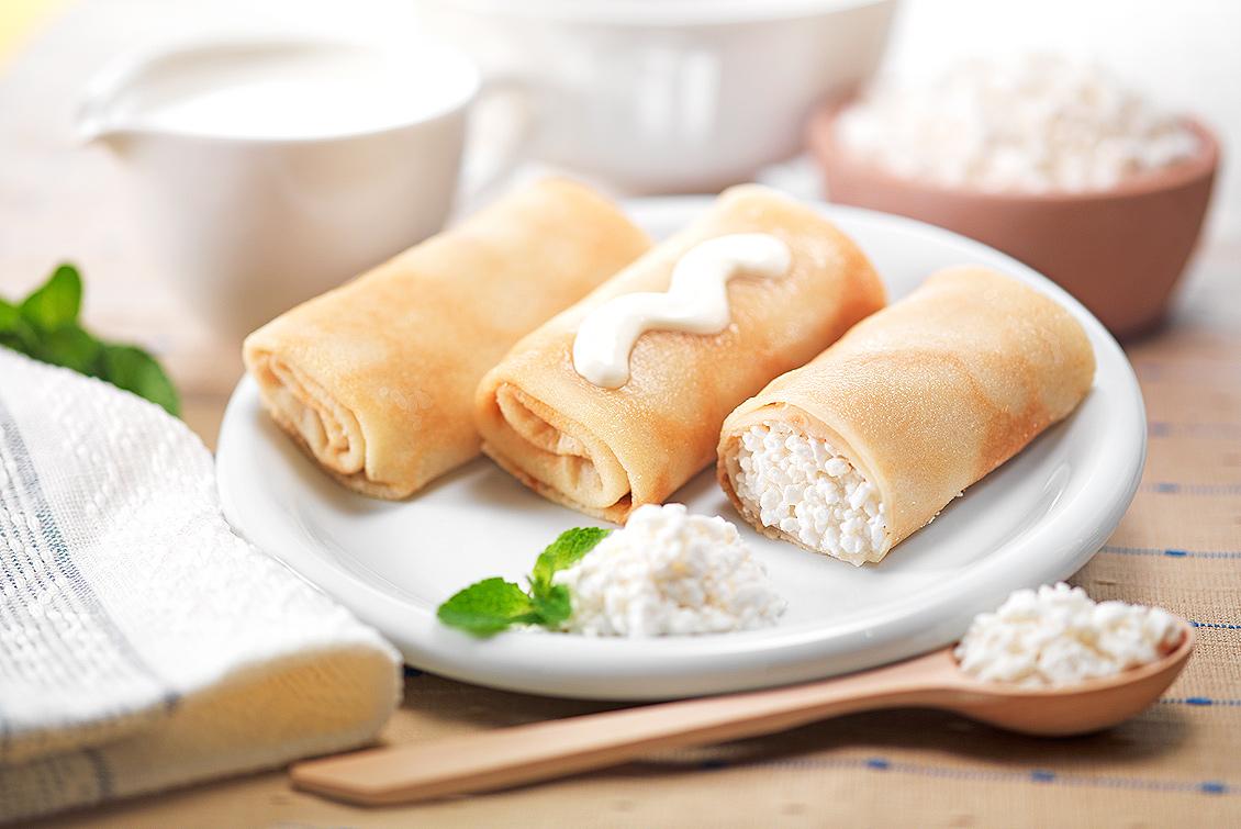 Блины с начинкой из творога – 8 вкусных пошаговых рецептов фото
