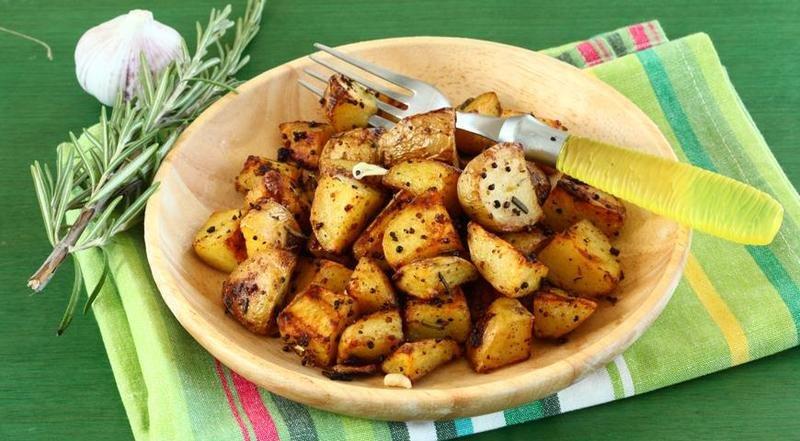 Запечённый картофель с горчицей, сыром и фасолью фото