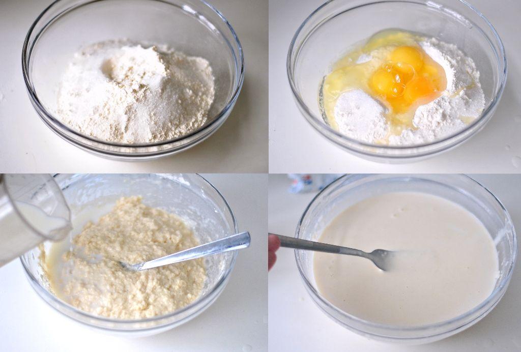 Как приготовить вкусное тесто для блинов на воде, дрожжах и яйцах фото