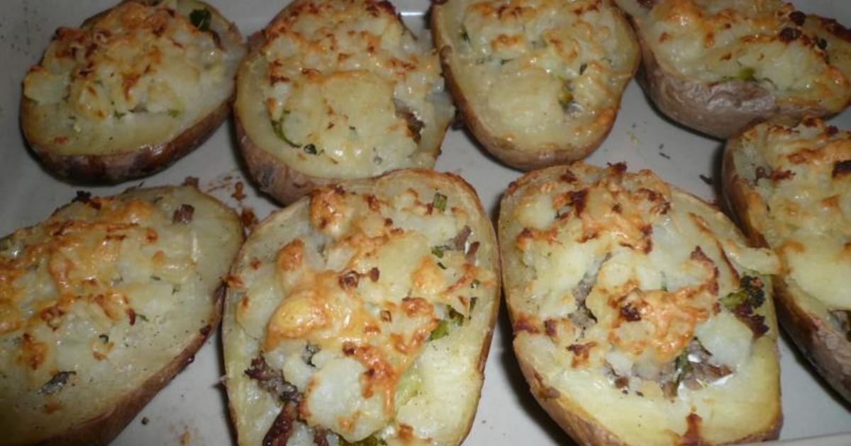 Картошка, фаршированная говядиной и овощами фото