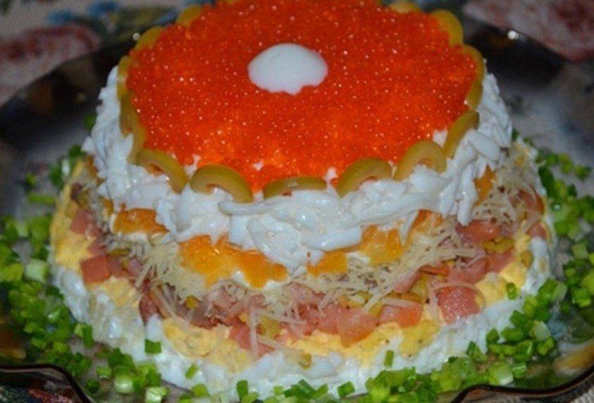 Новый и самый вкусный рецепт слоеного салата — Царский фото