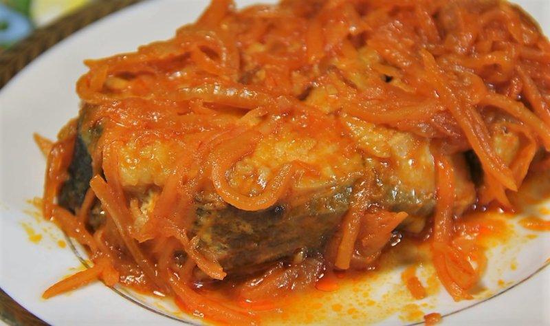 Горбуша, запеченная в духовке под маринадом фото