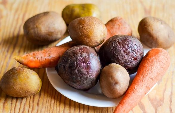 Как варить овощи на винегрет фото