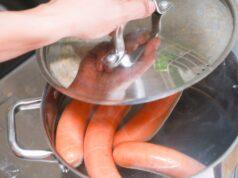 Как варить сосиски правильно фото