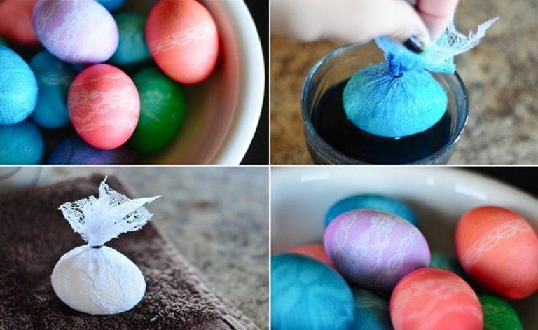 Как красить яйца на Пасху красителями в домашних условиях фото