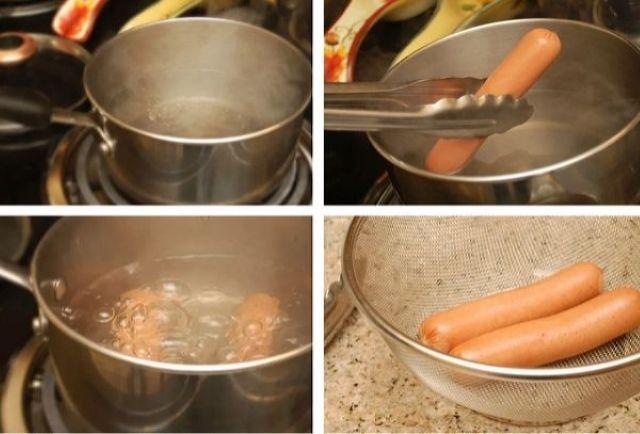Как подготовить сосиски для варки