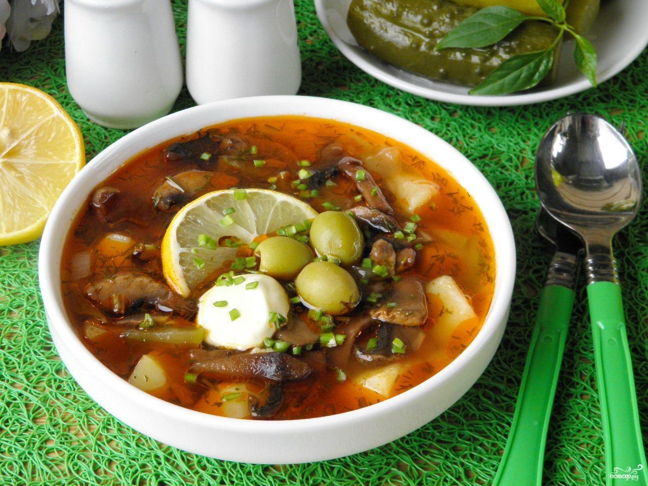 Как приготовить мясной суп — сборная солянка с картошкой фото