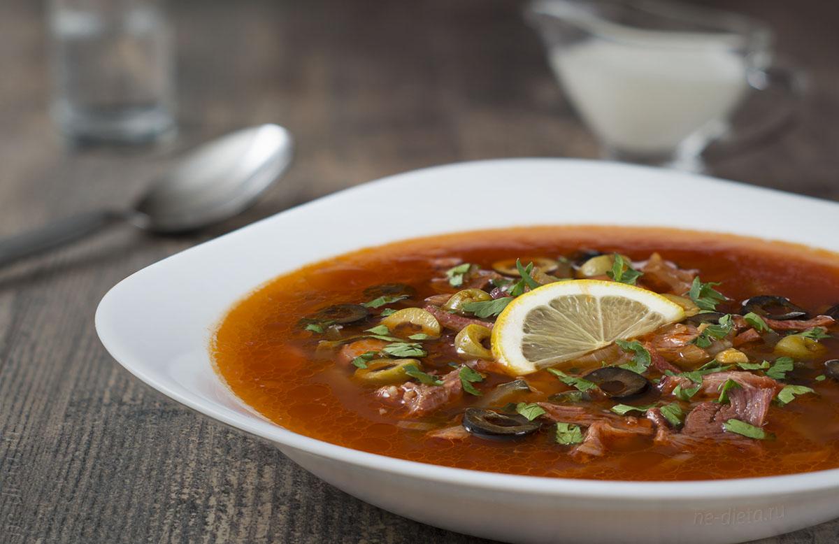 Классическая мясная сборная солянка — пошаговый рецепт приготовления фото