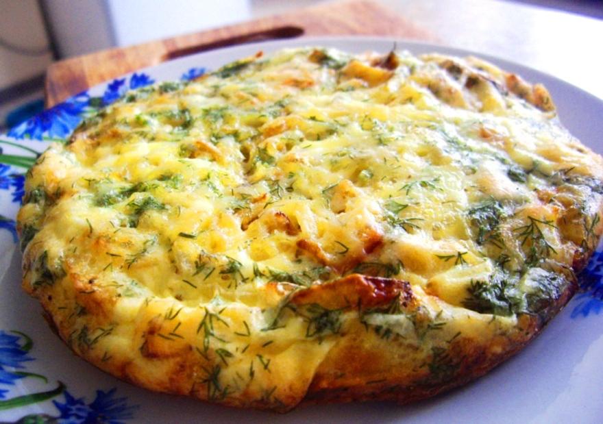 Как приготовить немецкий омлет с картофелем и сыром фото
