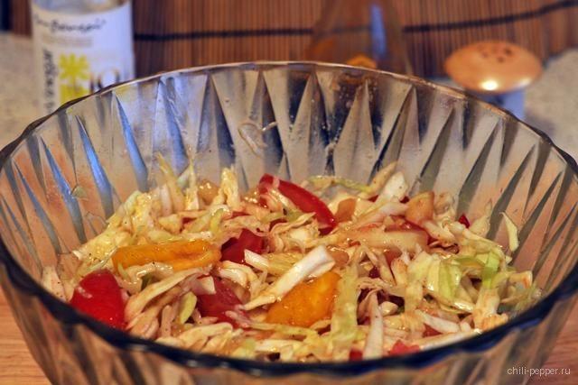 Салат из свежей капусты по–венгерски фото