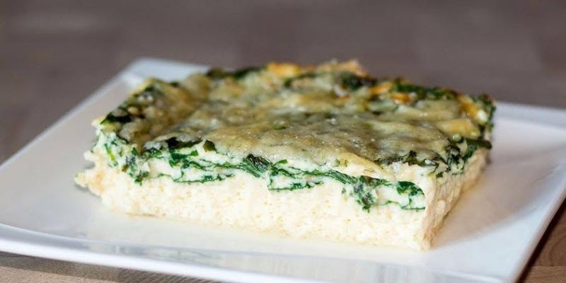 Как приготовить омлет со шпинатом и сыром в духовке фото