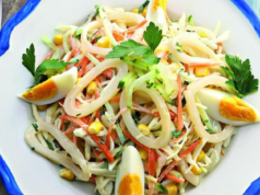14 простых и очень вкусных салатов с кальмарами фото