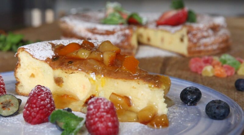 Творожная запеканка с манкой в духовке — пошаговые рецепты пышной творожной запеканки фото
