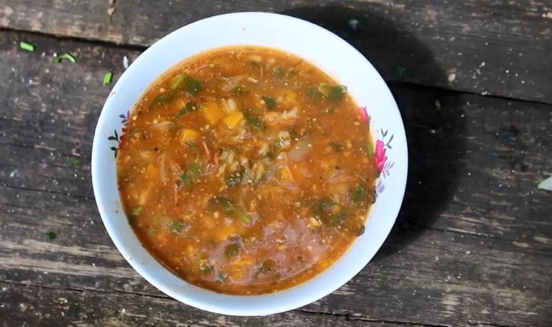 Как сварить суп харчо с томатной пастой в домашних условиях