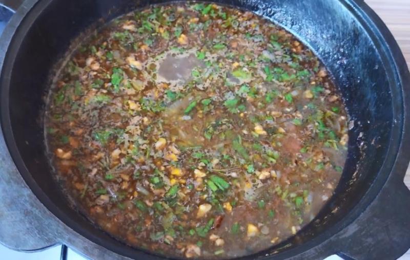 Суп харчо с пшеном и черносливом