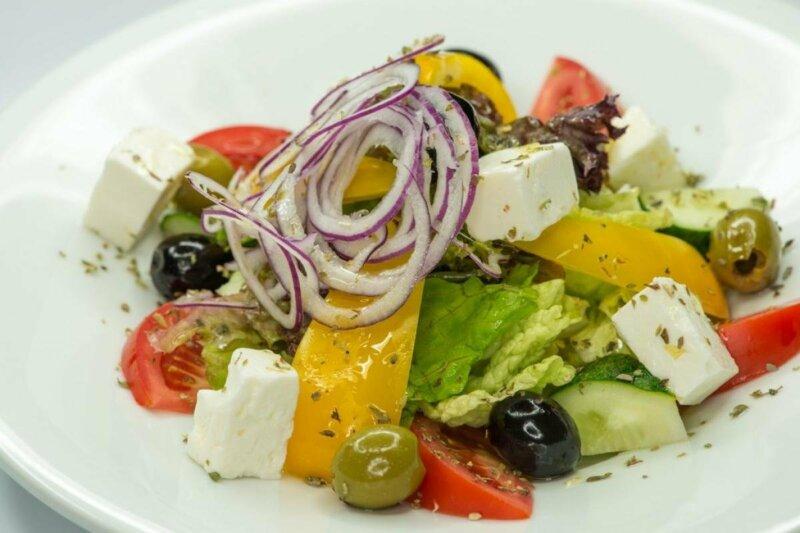 Греческий салат по настоящему греческому рецепту фото