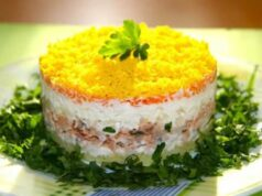 Салат Мимоза с консервой — пошаговые классические рецепты фото