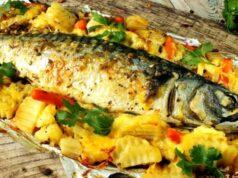 Скумбрия, запеченная в духовке — как приготовить вкусную скумбрию