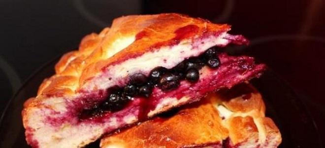 Пирог со смородиной из дрожжевого теста приправленный медом фото