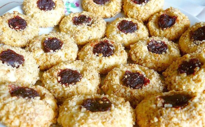 Домашнее песочное печенье с повидлом фото