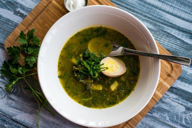 Зеленый борщ с щавелем — 9 простых и вкусных рецептов зеленого борща фото