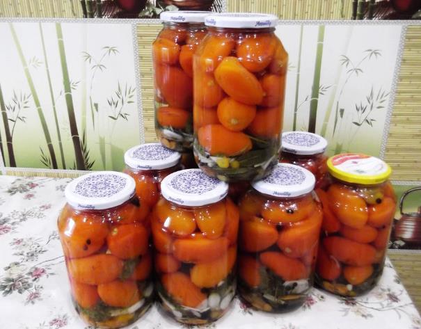 Маринованные помидоры по-болгарски на зиму фото