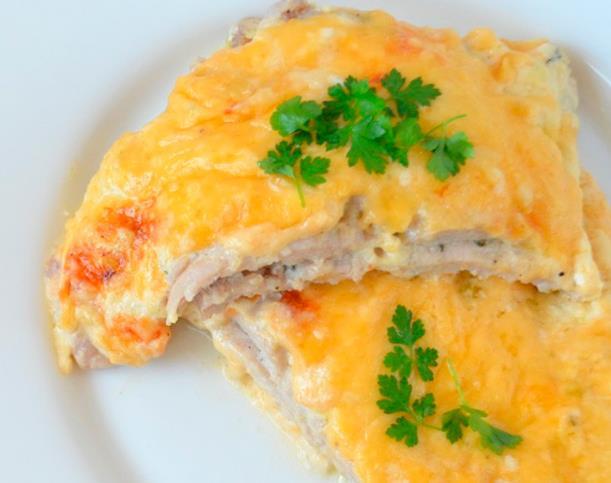 Мясо по-французски из куриной грудки фото