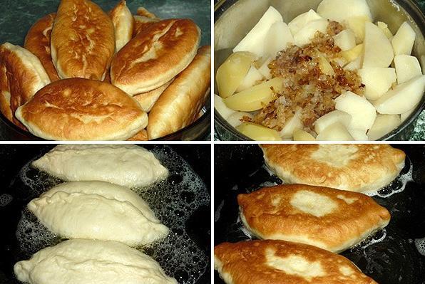 Бабушкины пирожки с картошкой на кефире — просто вкуснятина фото