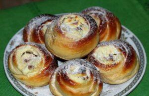 Булочки из дрожжевого теста в духовке — рецепты пышных булочек на дрожжах фото