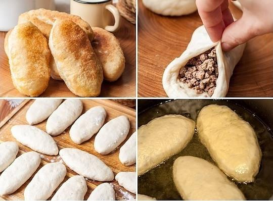 Ленивые пирожки на кефире — легкий и простой рецепт с ливерной колбасой фото