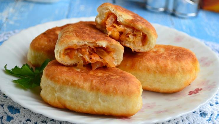 Пирожки на кефире как пух — рецепт пышных пирожков с капустой и морковью фото