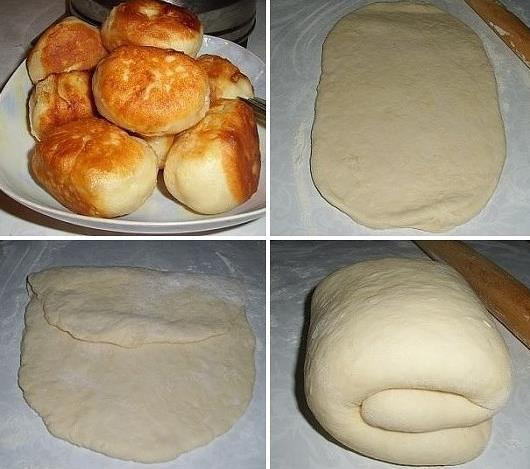 Рецепт пирожков на кефире с дрожжами и вишней фото