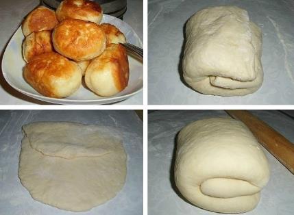 Тесто для пирожков без дрожжей на кефире фото