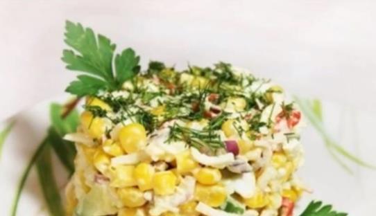 Самый вкусный салат с крабовыми палочками и рисом