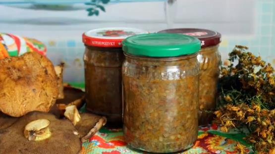 Простой рецепт икра из вареных грибов на зиму в мультиварке