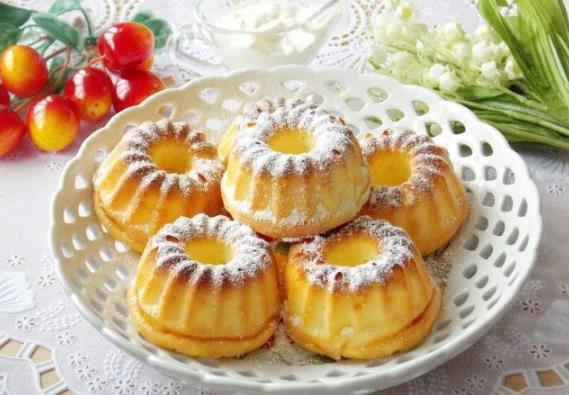 Пышные сырники в духовке в формочках для кексов