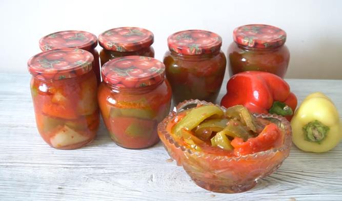 Рецепт лечо из болгарского перца и помидор на зиму