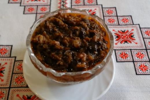 Самый вкусный рецепт приготовления грибной икры из вареных опят