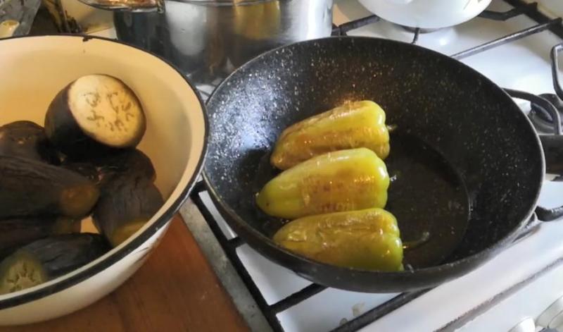обжарить перец