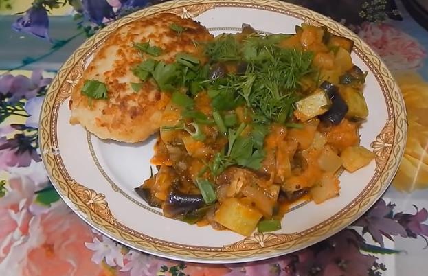 Как приготовить вкусное овощное рагу с баклажанами и кабачками