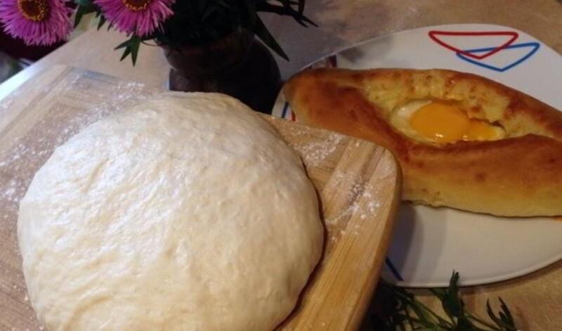 Очень вкусное и быстрое слоёное тесто для хачапури
