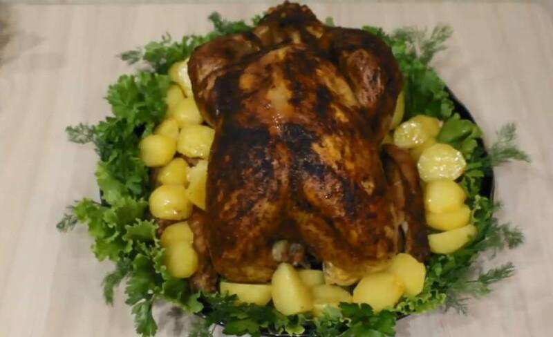 Как запечь индейку с картофелем целиком в духовке, чтобы она была мягкой и сочной