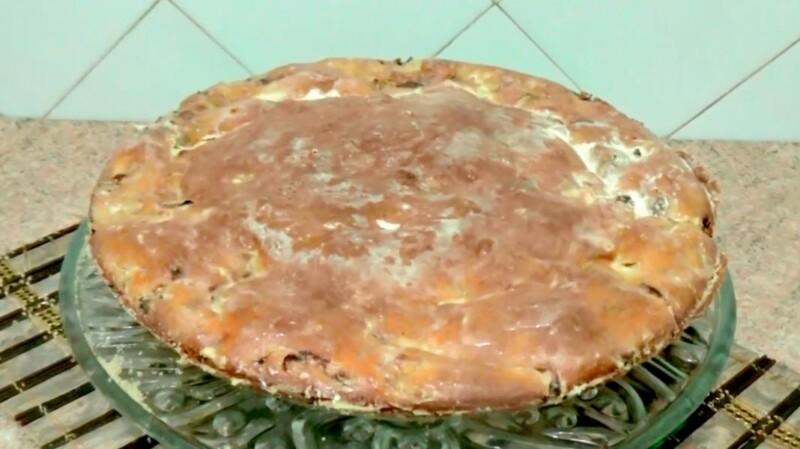 Пирог капустный на кефире в духовке с манкой и мукой — очень вкусный рецепт заливного пирога