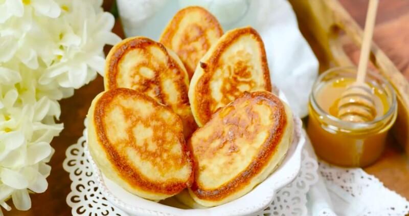 Пышные оладьи на кефире как пух — самый лучший и вкусный фото-рецепт как у бабушки