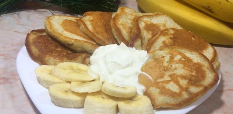 Пышные оладьи с бананом на кефире самый вкусный и простой рецепт банановых оладьев