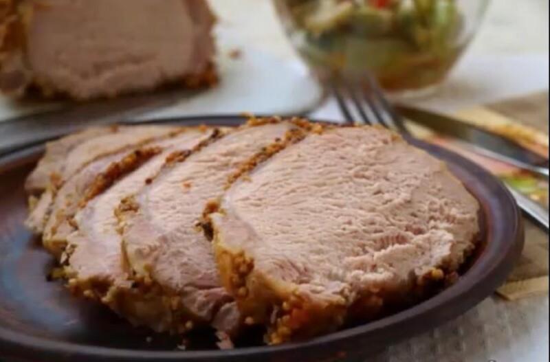 Рецепт вкусной домашней буженины из свинины в фольге с французской горчицей (пошаговый рецепт)