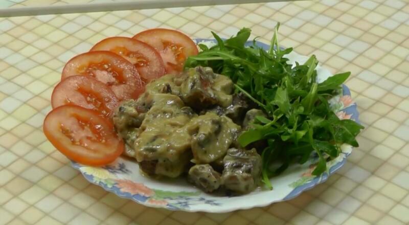 Бефстроганов из говядины с грибами в сливочном соусе классический рецепт говядины со сливками
