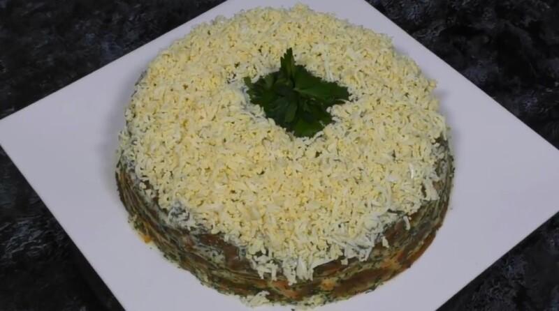 Печеночный торт из куриной печени на молоке — подробный рецепт вкусной закуски